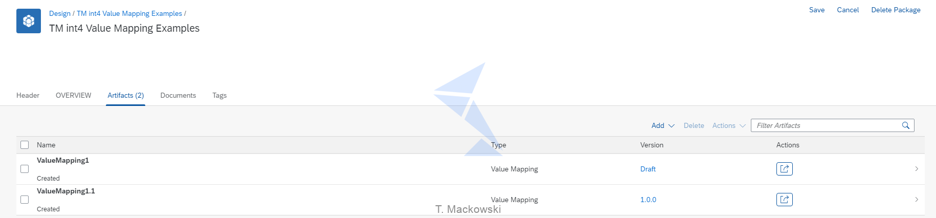 Int4 Value Mapping examples