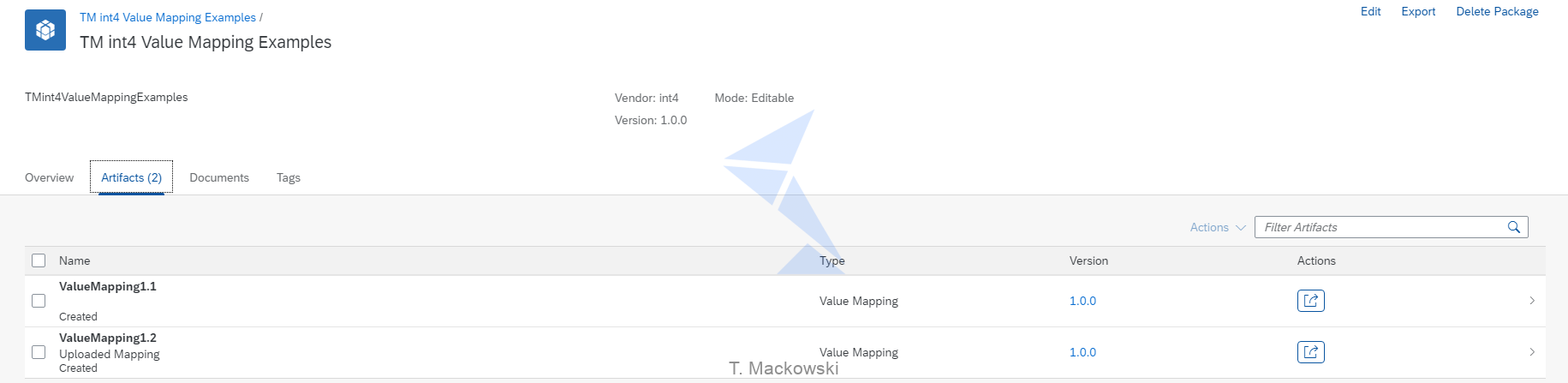 Int4 Value Mapping Examples 2