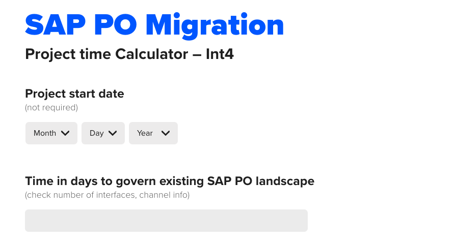 SAP_PO_migration_project_time_calculator