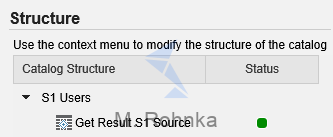 Catalog for S1 Users contains only table for S1 Source mappings