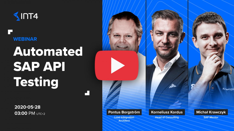 Automated SAP API Testing webinar thumbnail