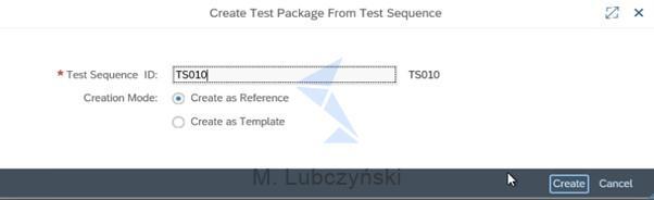Create Test Package