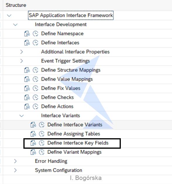 Define Interface Key Fields