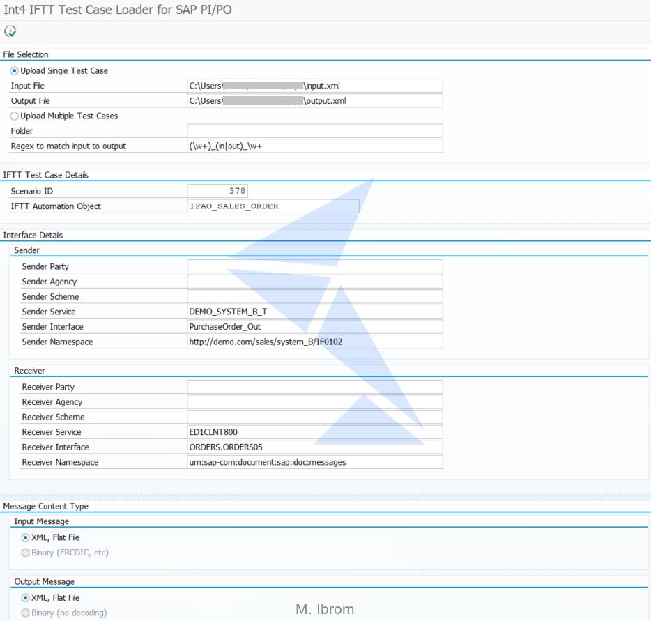 Figure 2. Int4 IFTT Test Case Loader main screen