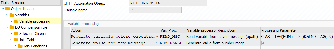 Configuration of the IFTT automation object for input test case