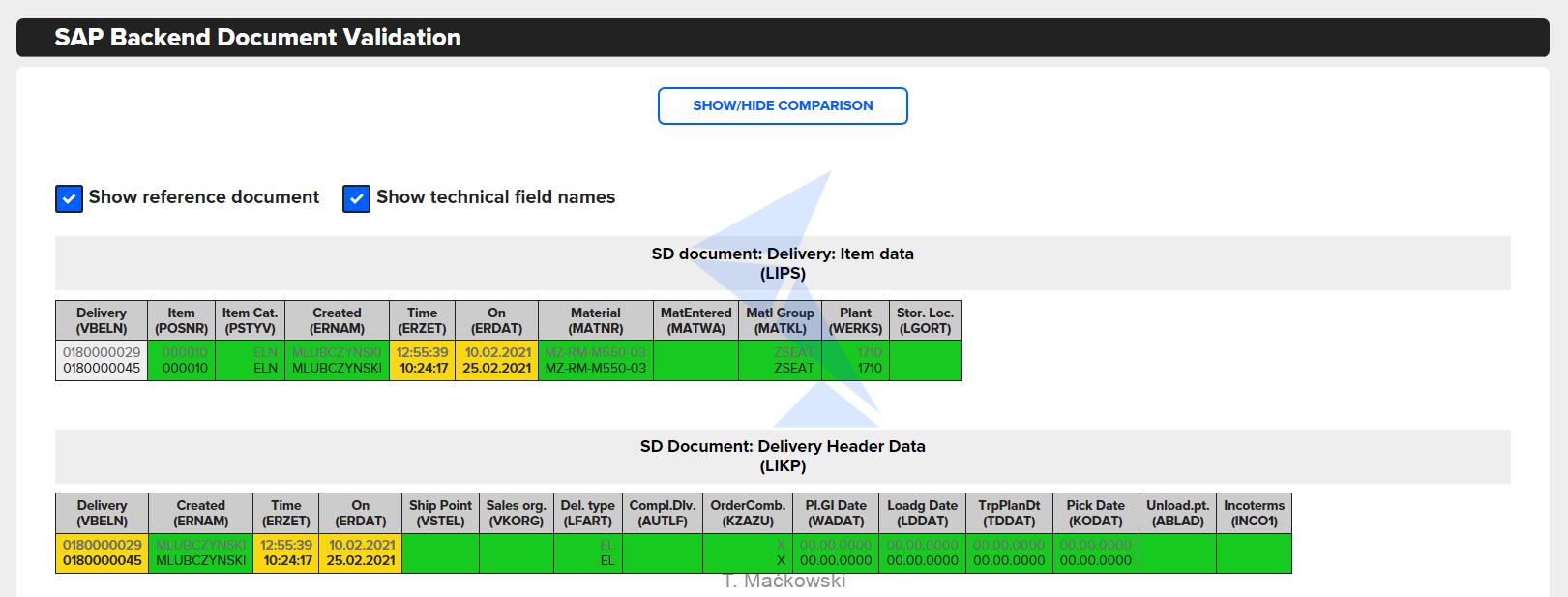 SAP_Backend_documentation_validation