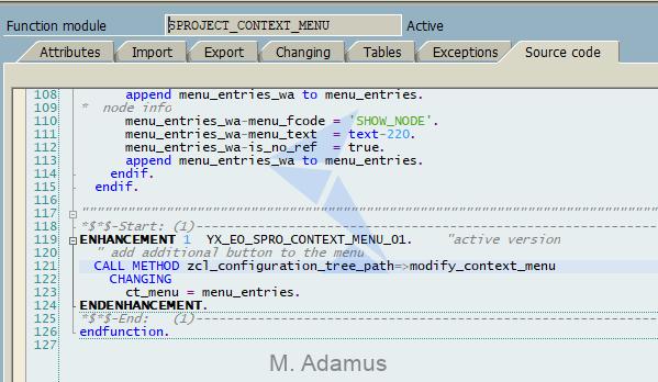 Context Menu Modification