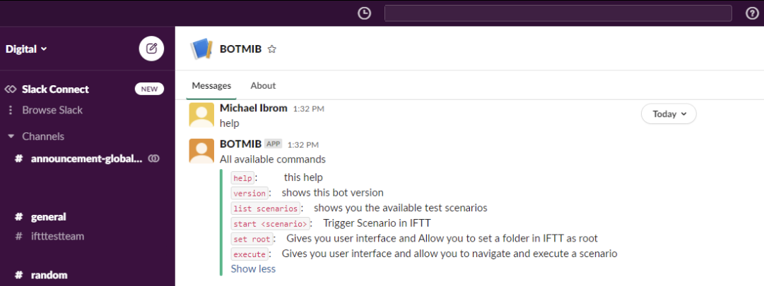 Slack bot to execute test cases for SAP S/4HANA projects